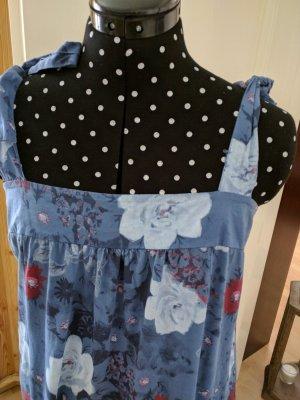 Sommerkleid Bindeträger Gr 38 Blautöne Neu