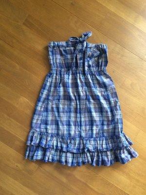 Sommerkleid blau-kariert