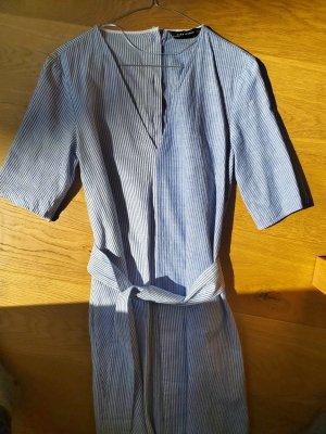 Sommerkleid blau-weiss - 100% Baumwolle NEU