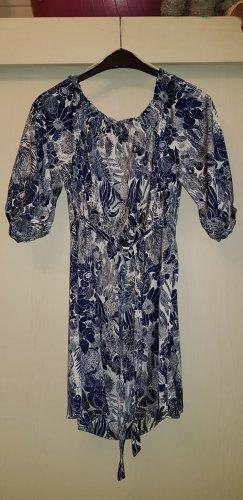 Sommerkleid blau/weiss von H&M