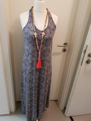 H&M Sukienka plażowa czarny-jasnoniebieski