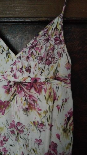 Zara Basic Vestido tipo overol crema-rosa