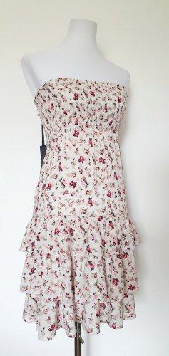 Sommerkleid Blumen Blümchenkleid Muster Kleid Blümchen Minikleid Gr 34 36