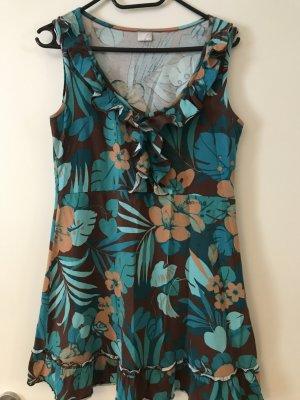 Sommerkleid Blumen/Palmen Gr. 38