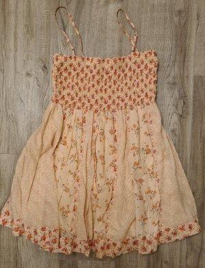 Miss Selfridge Vestido de tela de sudadera color rosa dorado