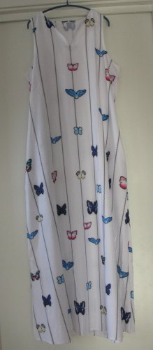 Sommerkleid, bodenlanges, zauberhaftes Kleid, Schmetterling flieg... Gr.L