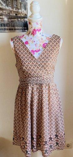 Sommerkleid braun|beige Mustermix -Vero-Moda-