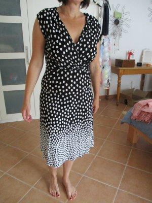 Lascana Vestido de Verano blanco-negro Viscosa