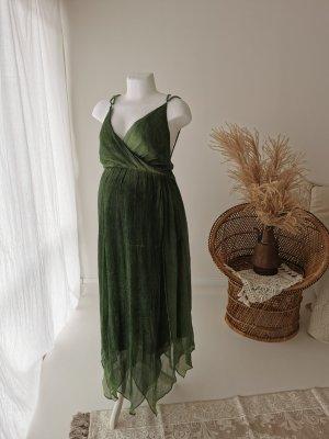 Letnia sukienka jasnozielony-leśna zieleń
