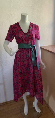 Claudie Pierlot Summer Dress neon red-cadet blue