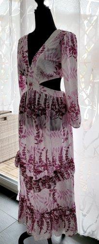 Sommerkleid Cut-Outs Gr.S/M weiß/pink NEU