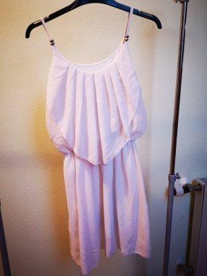 Szyfonowa sukienka kremowy-nude