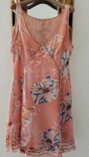 Amor & Psyche Midi Dress multicolored silk