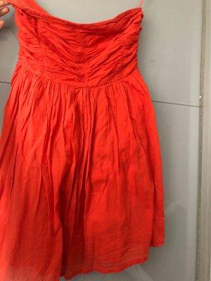 Zara Woman Robe Hippie orange fluo-rouge