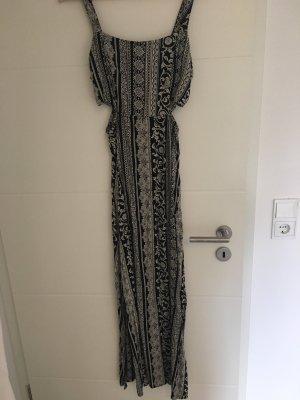 Amisu Robe de plage blanc cassé-noir