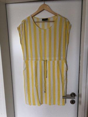 Object Robe en jersey blanc-jaune