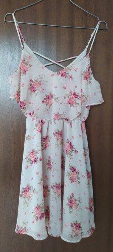 Forever 21 Szyfonowa sukienka beżowy-różowy