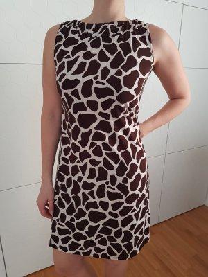 Diane von Fürstenberg Robe à manches courtes brun foncé-crème