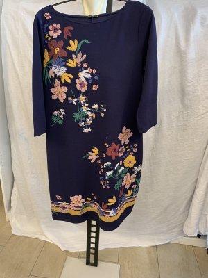Sommerkleid - dunkelblau mit Blumen