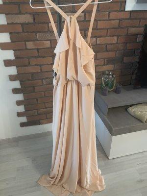 4F Robe longue rosé