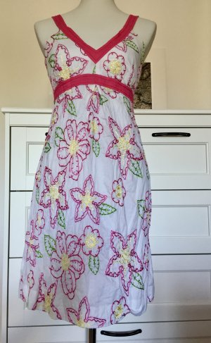 Sommerkleid Empire-Kleid mit Stickerei 34/36 XS S
