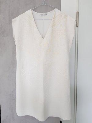Zara Sukienka tunika biały-złoto