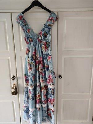 Alba Moda Robe longue multicolore coton