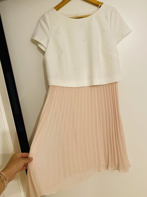 Comma Babydoll Dress white-pink