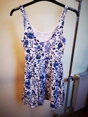 Jersey Dress steel blue-white