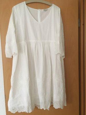 Sommerkleid Frogbox weiß mit Spitze