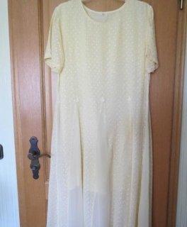 Sommerkleid, gelb, Gr.42/M, bestickt