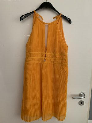 H&M Robe chiffon orange doré-orange clair
