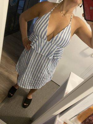 Sommerkleid gestreift blau/weiß Gr. 34/36