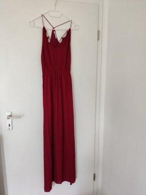Gina Tricot Sukienka z dekoltem typu halter ciemnoczerwony-głęboka czerwień