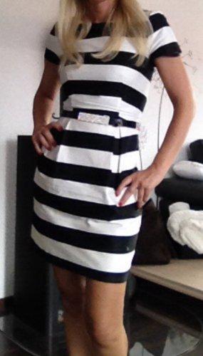 Sommerkleid Gr. 34 xs schwarz weiss gestreift Kleid
