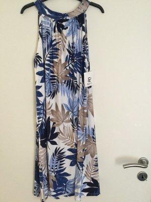 0039 Italy Sukienka plażowa niebieski Bawełna