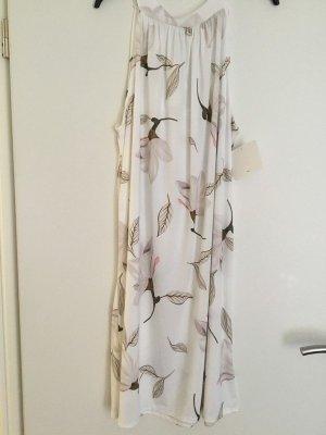 0039 Italy Sukienka plażowa w kolorze białej wełny Bawełna