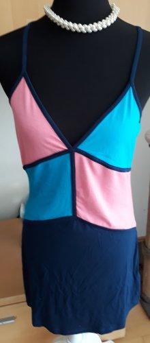 Alba Moda Vestido playero rosa-azul