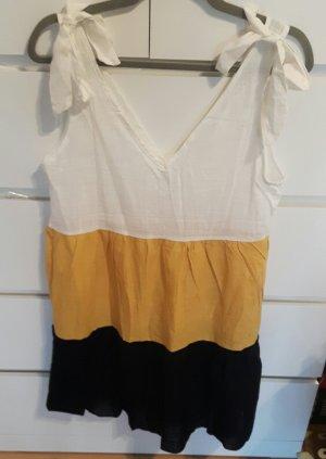 Sommerkleid Gr.M  gelb, schwarz weiß von Shein NEU