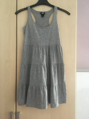 Sommerkleid grau ärmellos Gr. XS