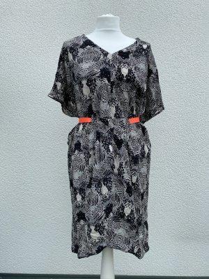Sommerkleid grau schwarz Nümph Gr. 36