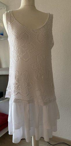 Sukienka z falbanami biały