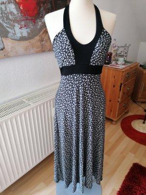 mgn Sukienka z dekoltem typu halter biały-czarny