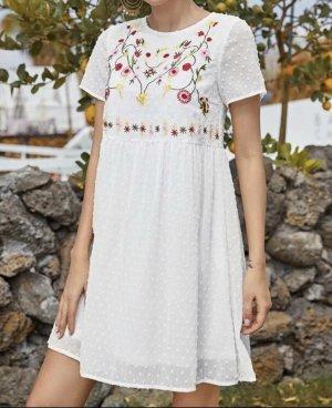 100% Fashion Robe d'été blanc