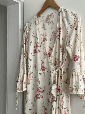 H&M Kopertowa sukienka kremowy