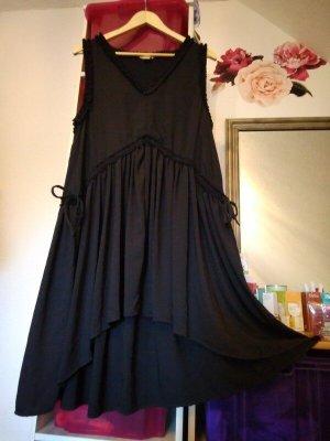 Sommerkleid, H&M, schwarz mit Rüschen, Gr. 42