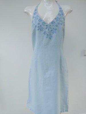 H&M Sukienka z dekoltem typu halter błękitny
