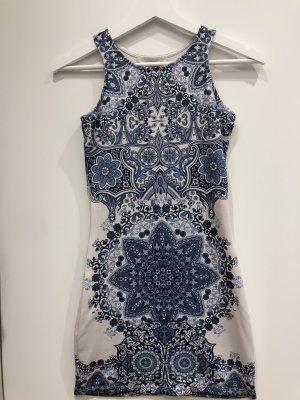 Sommerkleid - hellblau - Muster