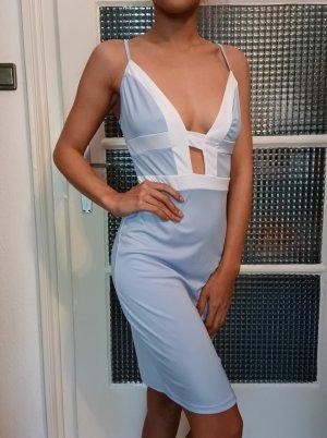 Sommerkleid [Hellblau-Weiß, Gr. S]