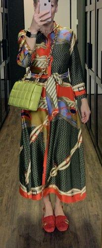 Zara Koszulowa sukienka Wielokolorowy Poliester